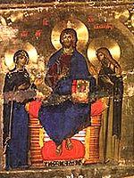 Deisis de l'iconostase du monastère Ste Catherine
