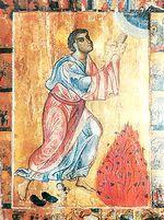 icone de Moïse près du Buisson-Ardent