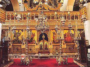 L'iconostase du monastère Sainte Catherine du mont Sinaï