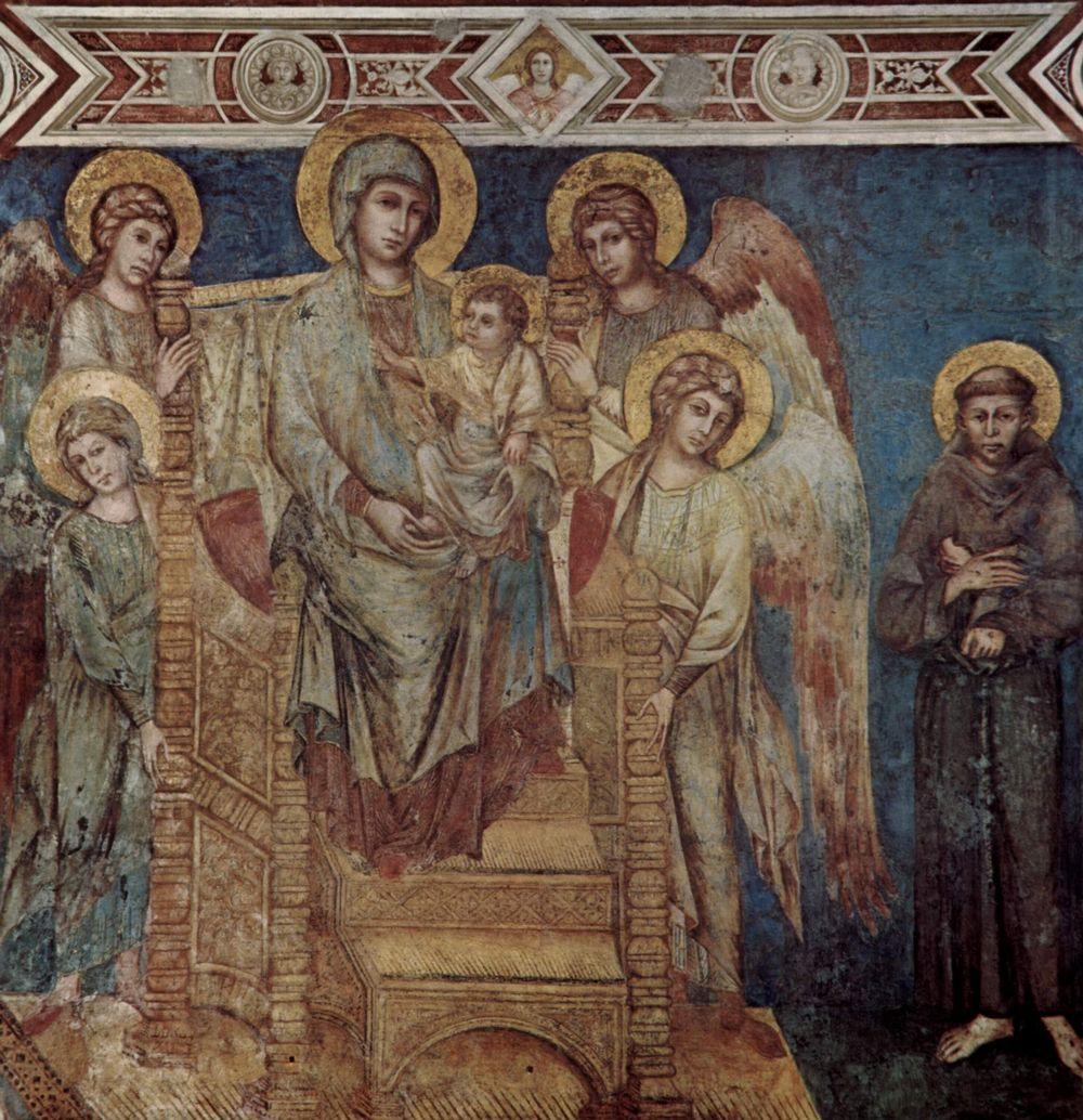 Fresque de la Vierge et l'Enfant